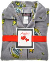 Angelina Gray Space Cartoon Fleece Pajama Set