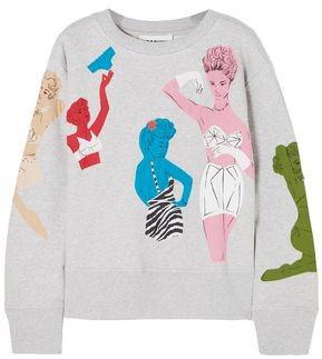 Moschino Appliqued Cotton-jersey Sweatshirt