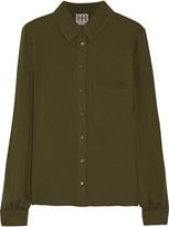 Haute Hippie Silk-crepe shirt