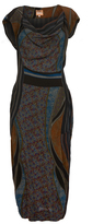 Vivienne Westwood Ioinian Dress In Navy & Brown Size I