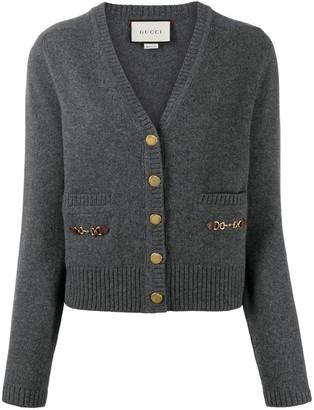 Gucci Horsebit-detail buttoned cardigan