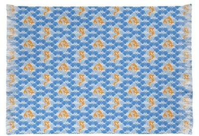 East Urban Home Mcguigan Koi Fish And Waves Blue Beige Area Rug Non Skid Pad Included No Shopstyle