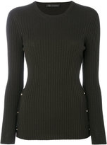 Versace ribbed top - women - Polyester/Wool - 38