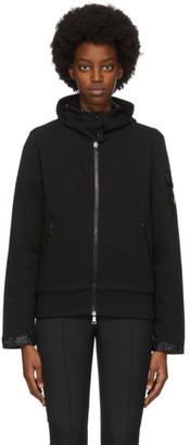 Moncler Black Sleeve Detail Zip-Up Hoodie