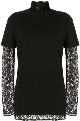 Strateas Carlucci layered lace T-shirt