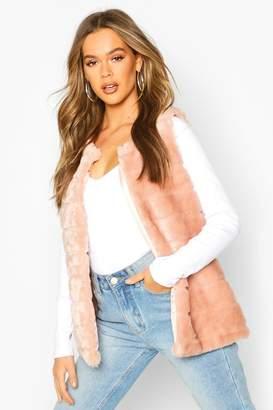 boohoo Panelled Faux Fur Gilet