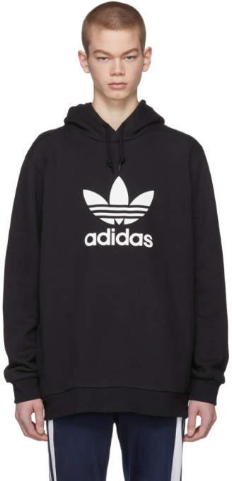 adidas Black Trefoil Warm-Up Hoodie