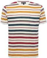 M&Co Multi stripe crew neck t-shirt