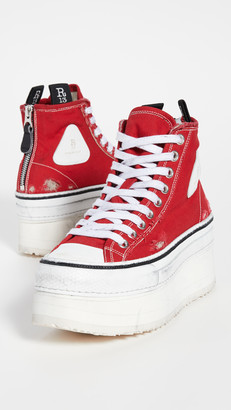 R 13 Platform High Top Sneakers