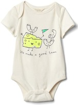 Organic food pair bodysuit