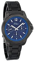MC M&c Men's Classic Chronograph Style Charcoal-tone Face Watch