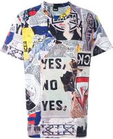 Kokon To Zai collage print T-shirt - men - Cotton - S