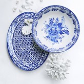 AERIN Sea Blue Geometric Platter