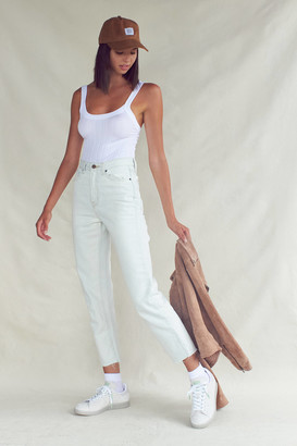 BDG High-Waisted Slim Straight Jean Bleached Light Wash