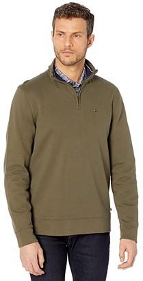 Tommy Hilfiger Bill 1/4 Zip Sweatshirt (Army Green) Men's Clothing