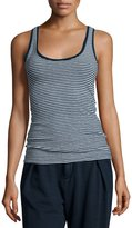 AG Jeans Iso Scoop-Neck Skinny-Striped Tank, Indigo Knit Two
