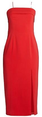 Jay Godfrey Kerr Front-Slit Sheath Dress