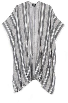 Angie Gauzy Stripe Duster Kimono