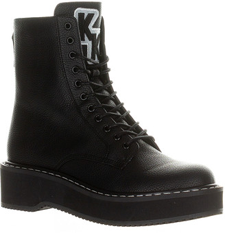 KENDALL + KYLIE Women's Casual boots BLACK - Black Hunt Combat Boot - Women