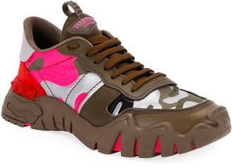 Valentino Men's Rockrunner Plus Camo Sneakers