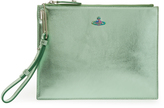 Vivienne Westwood Venice Green Leather Pouch 131236