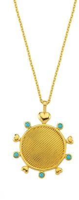 Smilla Brav Be Lovely Medaillon Necklace Turquoise