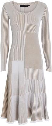 Proenza Schouler Mixed Rib Knit Midi Dress