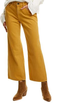 Askk Ny Mustard Crop Wide Leg Jean