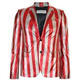 Saint Laurent Striped Glitter Jacket