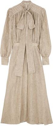 MARK KENLY DOMINO TAN Dean printed silk-satin midi dress