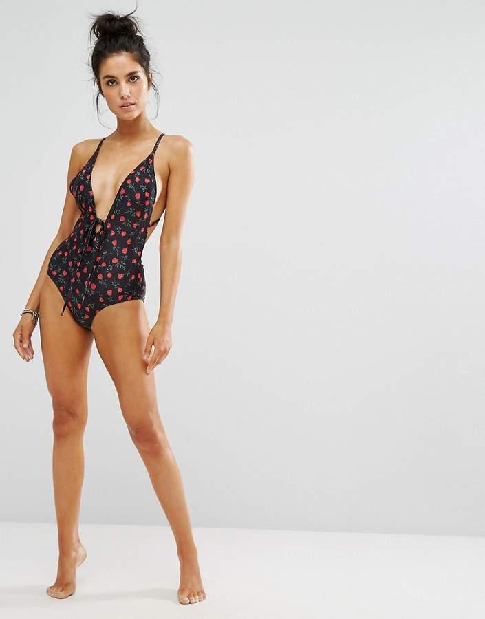 Motel Plunge Rose Swimsuit