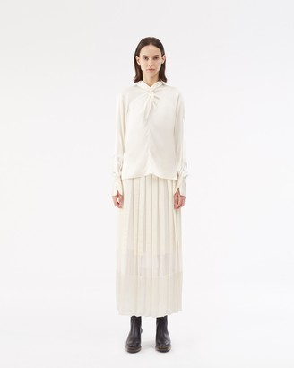 3.1 Phillip Lim Long Sleeve Silk Twisted Blouse
