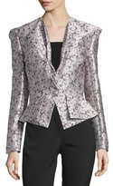 Zac Posen Seam Detail Jacket, Dark Lavender
