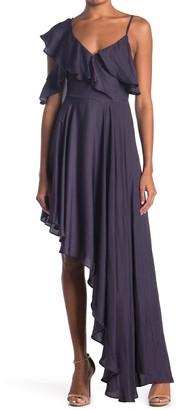 Do & Be Flutter Sleeve High/Low Maxi Dress