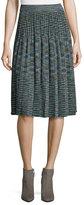 M Missoni Space-Dyed Lurex®; Pleated Plisse Skirt, Teal