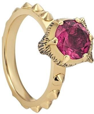 Gucci 18kt yellow gold Le Marche des Merveilles diamond and tourmaline ring