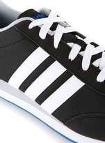 Adidas Black And White Stripe V Run Trainers