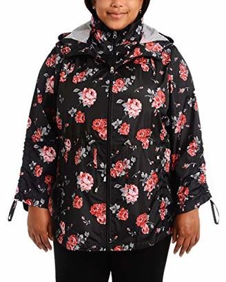 INTL d.e.t.a.i.l.s Women's Plus Size Packable Anorak Jacket