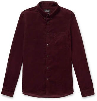 A.P.C. Button-Down Collar Cotton-Corduroy Shirt