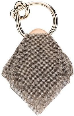 Benedetta Bruzziches Crystal-Embellished Clutch Bag