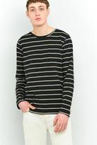 Nudie Jeans Orvar Black Breton Stripe Long-sleeve T-shirt