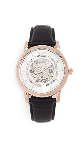 Emporio Armani Men's 'Dress' Japanese Automatic Stainless Steel and Leather Casual Watch