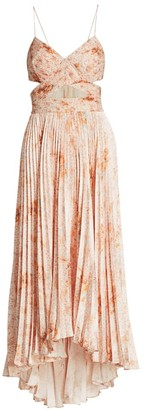 AMUR Lumi Cutout Pleated Dress
