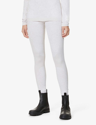 Varley Ardmore snakeskin-print high-rise stretch-woven thermal leggings