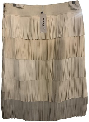 Sonia Rykiel Beige Leather Skirt for Women