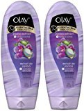 Olay 2-in-1 Essential Oils Ribbons Moisturizing Body Wash, Luscious Orchid, 18 oz, 2 pk