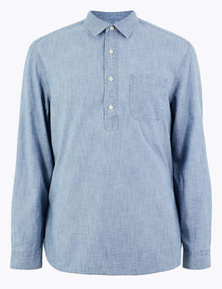 Marks and Spencer Cotton Chambray Denim Shirt