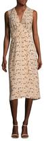 Veda Sage Silk Printed Flare Dress
