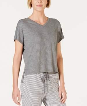 Alfani Super Soft Ribbed Pajama Top, Created for Macy's