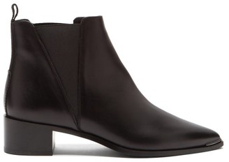 Acne Studios Jensen Pointed Leather Chelsea Boots - Black